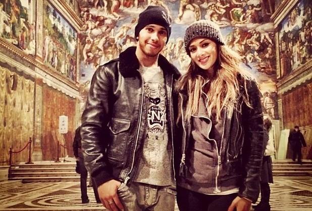 Lewis Hamilton & Nicole Scherzinger in the Sistine Chapel