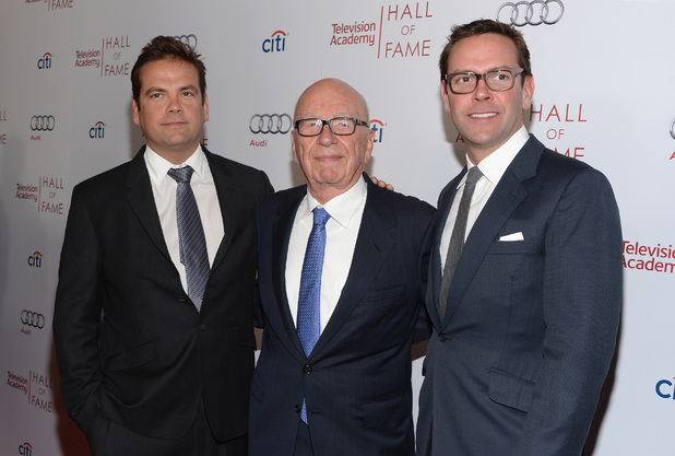 TV Academy Hall of Fame - Rupert Murdoch with sons Lachlan and James