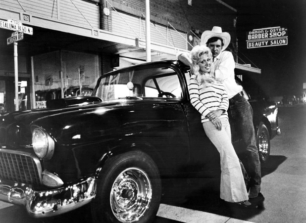 Harrison Ford and Linda Christensen in American Graffiti 1973