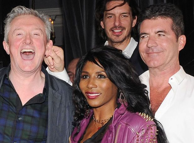 Simon Cowell and friends on a night out at the Arts Club, London, Britain - 11 Mar 2014 Louis Walsh, Sinitta and Simon Cowell 11 Mar 2014