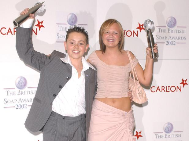 Ray Quinn and guest Soap Awards 2002 held at the BBC Television Centre
