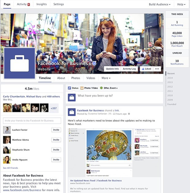 Facebook Pages redesign (March 2013)