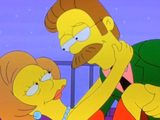 Edna Krabappel and Ned Flanders in The Simpsons