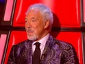 Tom Jones watches Jade Mayjean Peters perform