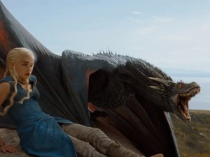 Game of Thrones: Season 4 - Drogon and Daenerys