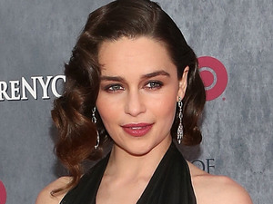 Emilia Clarke attends the Game of Thrones season 4 premiere at the Lincoln Center, New York