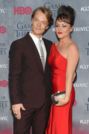 NEW YORK, NY - MARCH 18: Actor Alfie Allen and Jaime Winstone attend the 'Game Of Thrones' Season 4 New York premiere at Avery Fisher Hall, Lincoln Center on March 18, 2014 in New York City. (Photo by Jamie McCarthy/Getty Images)