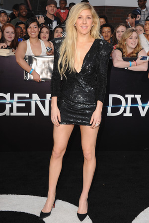 LOS ANGELES, CA - MARCH 18: Singer Ellie Goulding arrives at the Los Angeles Premiere 'Divergent' at Regency Bruin Theatre on March 18, 2014 in Los Angeles, California. (Photo by Jon Kopaloff/FilmMagic)