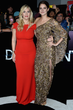 LOS ANGELES, CA - MARCH 18: Kate Winslet and Shailene Woodley arrives at the 'Divergent' - Los Angeles Premiere at Regency Bruin Theatre on March 18, 2014 in Los Angeles, California. (Photo by Steve Granitz/WireImage)