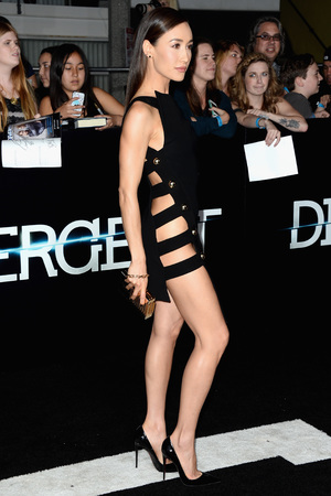 LOS ANGELES, CA - MARCH 18: Actress Maggie Q arrives at the premiere of Summit Entertainment's 'Divergent' at the Regency Bruin Theatre on March 18, 2014 in Los Angeles, California. (Photo by Frazer Harrison/Getty Images)