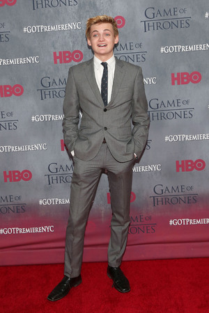 Jack Gleeson attends the Game of Thrones season 4 premiere at the Lincoln Center, New York