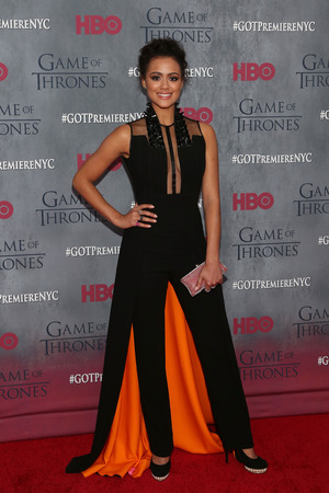 Nathalie Emmanuel attends the Game of Thrones season 4 premiere at the Lincoln Center, New York