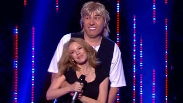 Kylie Minogue, David Walliams's Jason Donovan perform for Sport Relief