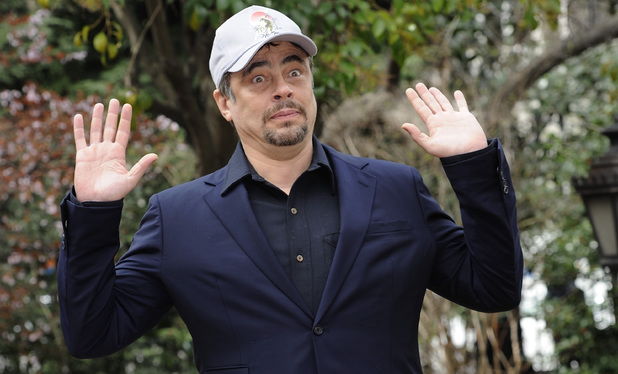 MADRID, SPAIN - MARCH 14: Benicio del Toro attends a photocall to announce the start of the shooting of 'A Perfect Day' at Casa de America on March 14, 2014 in Madrid, Spain. (Photo by Fotonoticias/WireImage)