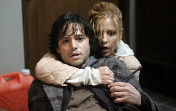 Jason Behr & Sarah Michelle Gellar in The Grudge (2004)