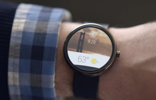 Moto 360 smartwatch running Android Wear