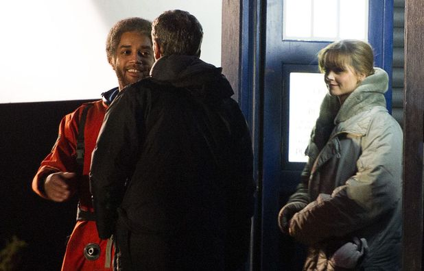 Peter Capaldi, Jenna-Louise Coleman and Samuel Anderson