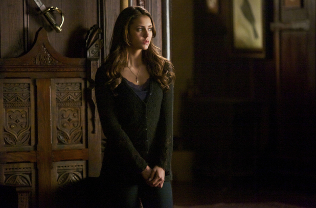 Nina Dobrev as Elena in The Vampire Diaries S05E16: 'While You Were Sleeping'