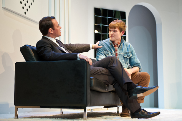 Andrew Lancel and Will Finlason in Epstein: The Man Who Made The Beatles