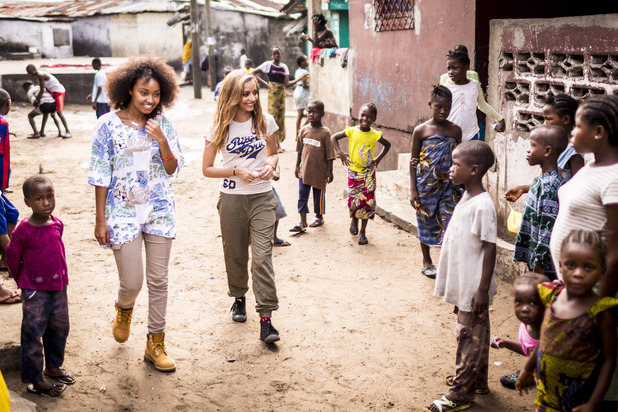 Little Mix visit Liberia for Sport Relief.