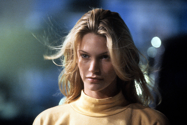 Natasha Henstridge in a scene from the film 'Species', 1995. (Photo by Metro-Goldwyn-Mayer/Getty Images)