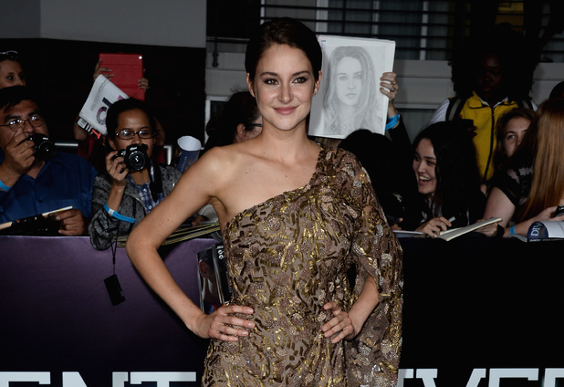 LOS ANGELES, CA - MARCH 18: Actress Shailene Woodley arrives at the premiere of Summit Entertainment's 'Divergent' at the Regency Bruin Theatre on March 18, 2014 in Los Angeles, California. (Photo by Frazer Harrison/Getty Images)