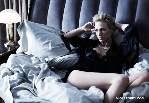 January Jones poses for Violet Grey
