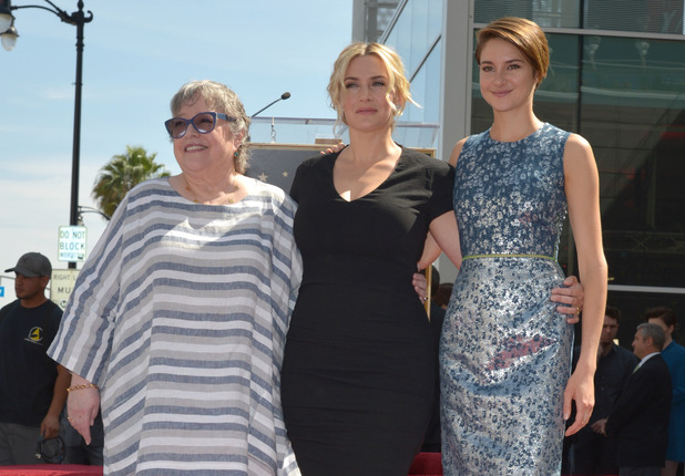 Kate Winslet is joined by Kathy Bates and Shailene Woodley, as Winslet receives a star on the Hollywood Walk of Fame