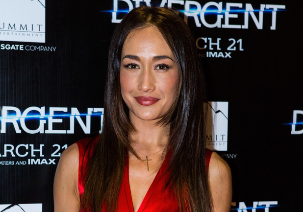 Maggie Q attends the 'Divergent' special screening at Emagine Royal Oak