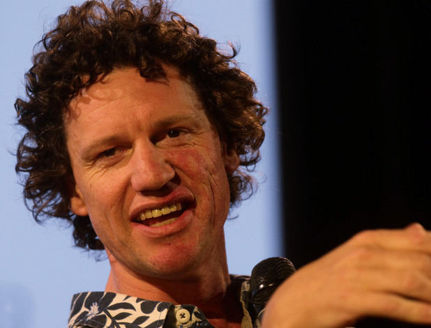 Chris Morris during a Q&A session for his film 'Four Lions', at the Film and Music Stage during the Latitude festival