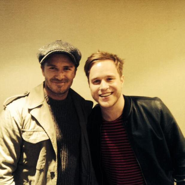 David Beckham and Olly Murs