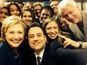 Kimmel takes selfie with the Clintons