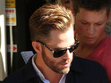 Chris Pine leaves the Ashburton District Court on March 17, 2014 in Christchurch, New Zealand