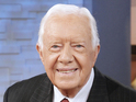 Former US president Jimmy Carter makes first Late Show appearance since 2004.