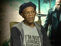 Samuel L Jackson references mistaken identity incident during Captain America interviews.