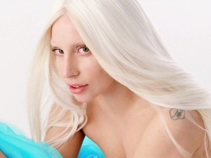 Lady Gaga 'G.U.Y.' music video still.