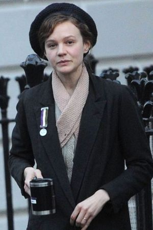 'Suffragette' on set filming, London, Britain - 25 Mar 2014 Carey Mulligan 25 Mar 2014
