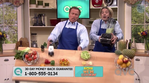 Arnold Schwarzenegger and Jimmy Fallon in QVC skit