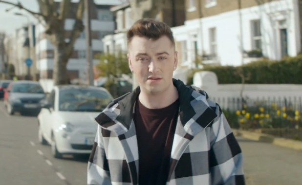Sam Smith 'Stay With Me' music video still.