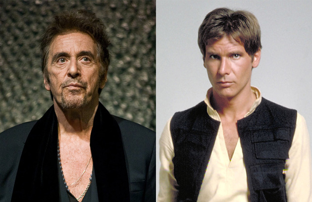 Al Pacino - Han Solo in Star Wars (Harrison Ford)