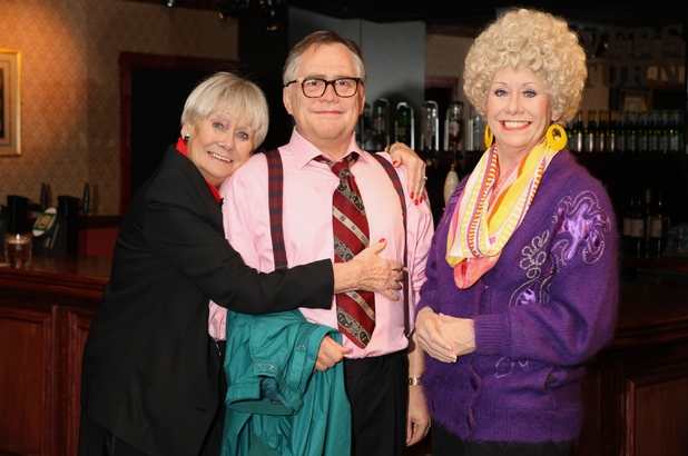 Liz Dawn views the waxworks