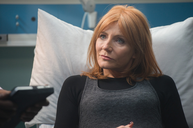 Michelle Collins as Samantha in Casualty