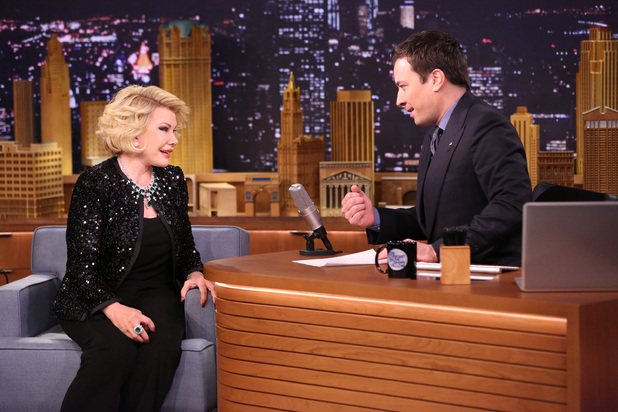 Joan Rivers with Jimmy Fallon on The Tonight Show