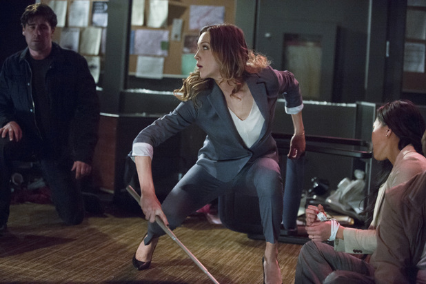 Katie Cassidy as Laurel Lance in 'Arrow' S02E17: 'Birds of Prey