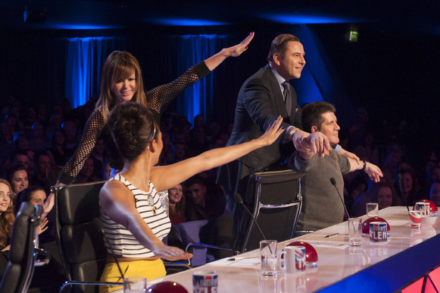 'Britain's Got Talent' Auditions, TV Programme - 28 Apr 2013 Judges - David Walliams, Alesha Dixon, Amanda Holden and Simon Cowell 28 Apr 2013