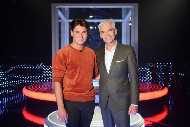Joey Essex and Phillip Schofield on The Cube