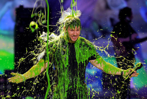 Mark Wahlberg gets slimed at the Nickelodeon Kids Choice Awards 2014