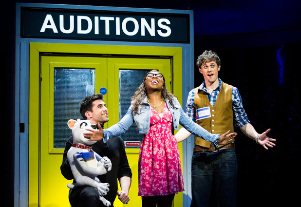 Cynthia Erivo as Chenice and Alan Morrissey as Max in I Can't Sing! The X Factor Musical