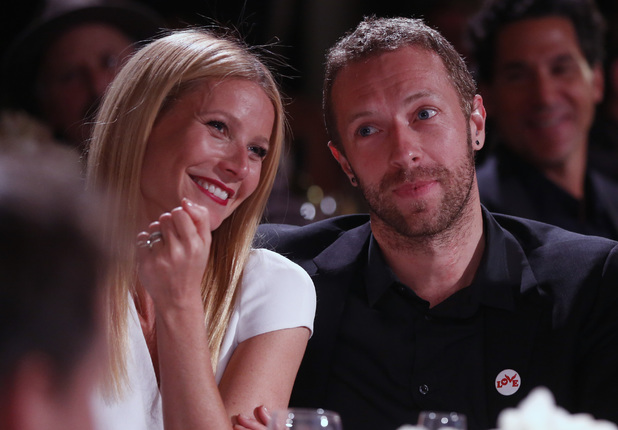 Gwyneth Paltrow and Chris Martin are seen at the 3rd Annual Sean Penn & Friends HELP HAITI HOME Gala