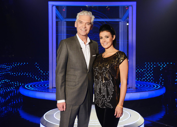 Phillip Schofield and Kym Marsh on The Cube